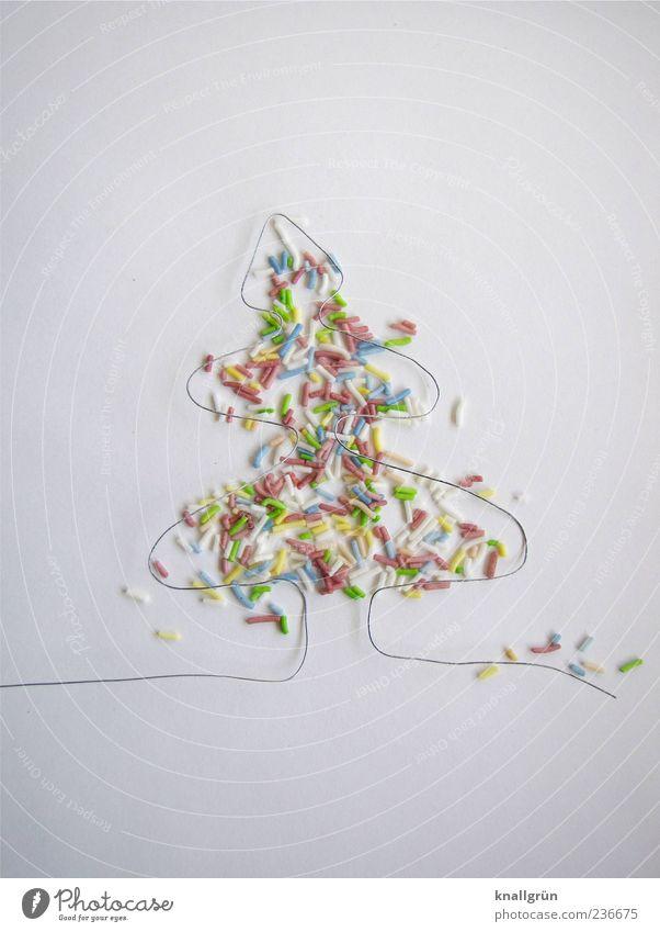 Erster! Weihnachten & Advent weiß Freude Farbe Gefühle Lebensmittel außergewöhnlich Design Fröhlichkeit Kreativität Weihnachtsbaum Süßwaren Draht Weihnachtsdekoration Feste & Feiern Ernährung