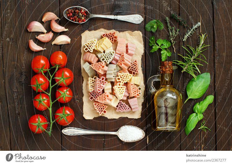 grün Baum rot dunkel braun frisch Tisch Gemüse Tradition Diät Flasche Mahlzeit Vegetarische Ernährung Tomate Löffel rustikal