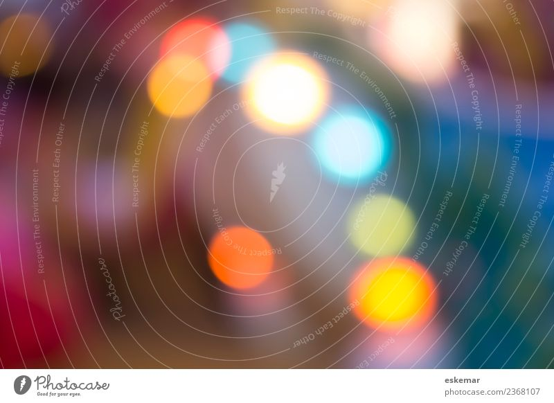 abstract bokeh background Design Nachtleben Party Kunst Show ästhetisch außergewöhnlich Coolness Freundlichkeit Fröhlichkeit schön modern blau mehrfarbig gelb