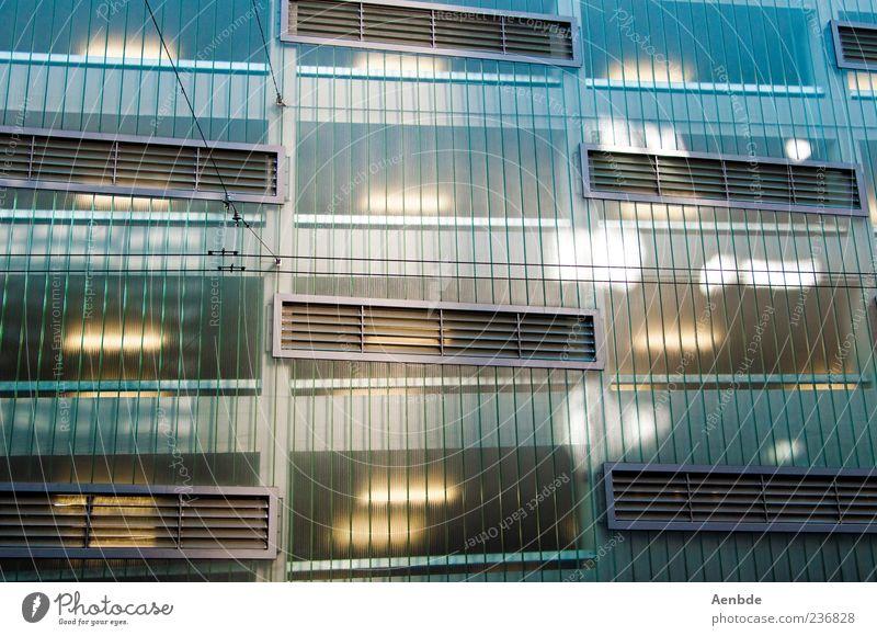 2046 Fenster kalt Architektur Gebäude Beleuchtung Fassade ästhetisch Futurismus Parkhaus abstrakt Kunst