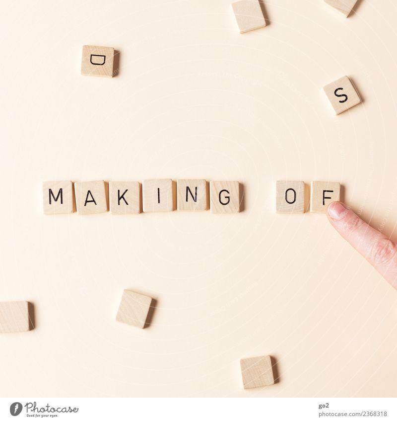 Making of Mensch Hand Freude Kunst Spielen Freizeit & Hobby Schriftzeichen Kultur Kreativität Finger Idee Inspiration innovativ Brettspiel