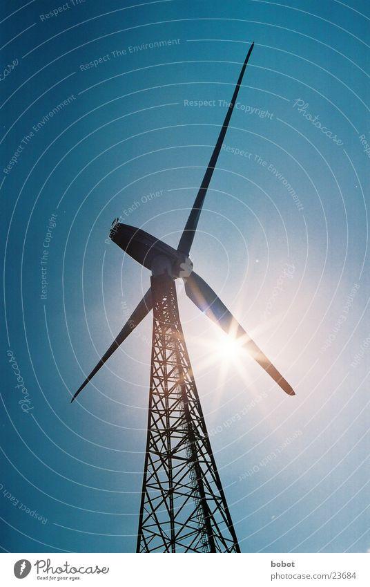 Windvampir Sonne Energiewirtschaft Elektrizität Technik & Technologie Windkraftanlage Strommast Erneuerbare Energie Elektrisches Gerät