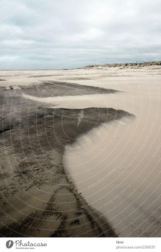 Spiekeroog | grenzbereich Umwelt Natur Landschaft Urelemente Erde Himmel Wolken Küste Bewegung Farbfoto Außenaufnahme Menschenleer Textfreiraum rechts
