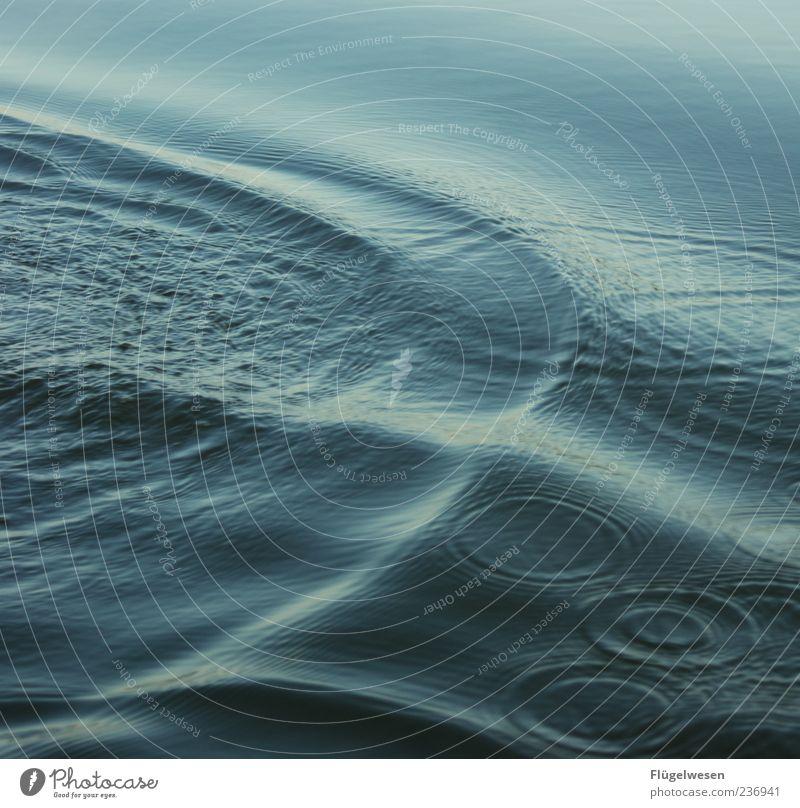machst du hier 'ne Riesenwelle Wasser Meer Sommer kalt Wellen rund Wasseroberfläche Wellengang Wellenlinie