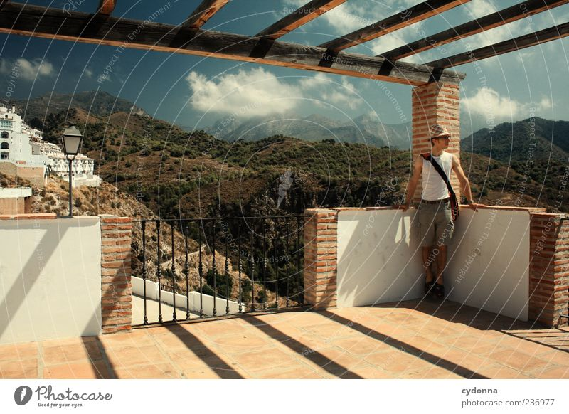 Schöne Aussicht Lifestyle Leben Wohlgefühl Erholung ruhig Ferien & Urlaub & Reisen Tourismus Ausflug Ferne Freiheit Sightseeing Sommerurlaub Mensch Junger Mann