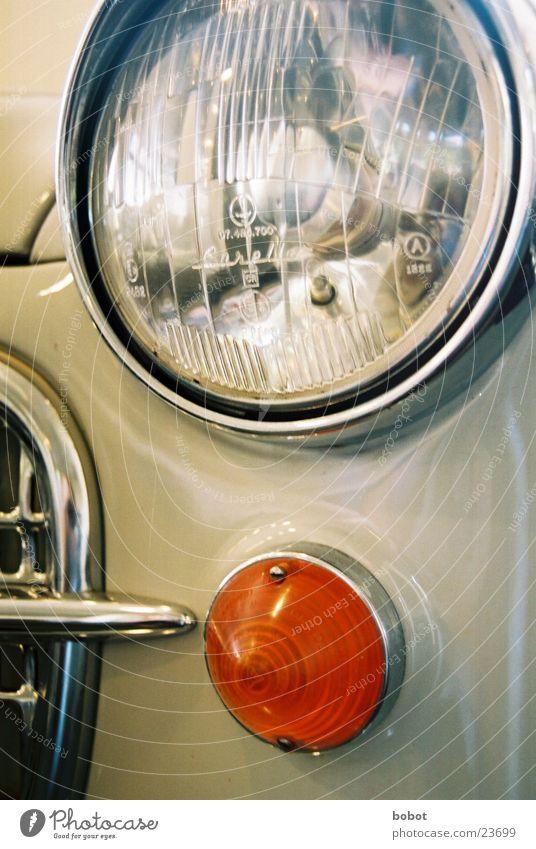 Oldie grau PKW Technik & Technologie Scheinwerfer Oldtimer Lack Chrom Angelköder Elektrisches Gerät