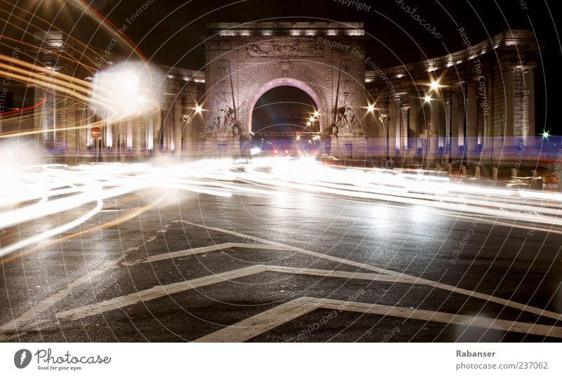 Lichttor alt Stadt Straße Wand Architektur Mauer außergewöhnlich Verkehr Brücke USA Bauwerk Tor Verkehrswege Tunnel Abenddämmerung Personenverkehr