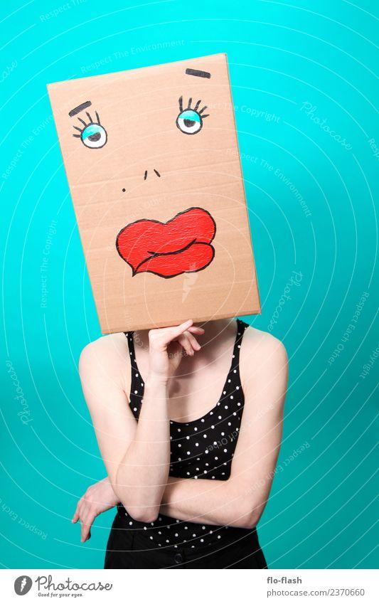 KARTOON · DUGGI VI Frau Mensch Jugendliche Junge Frau Erotik 18-30 Jahre Erwachsene maskulin Kraft Sex warten dünn Lippen türkis Werbebranche Theaterschauspiel