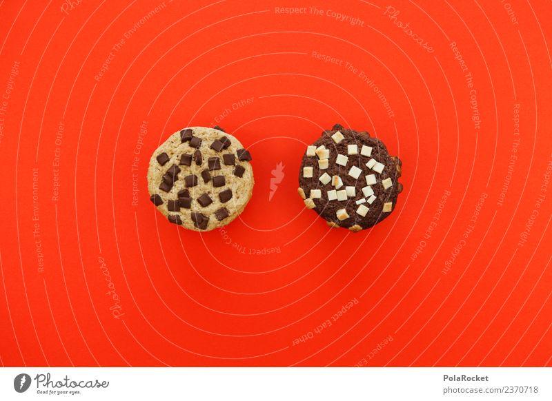 #A# Zwei Leckersche Lebensmittel Teigwaren Backwaren Dessert Süßwaren Schokolade Ernährung Diät Fastfood ästhetisch Keks 2 weiß schwarz Verschiedenheit lecker