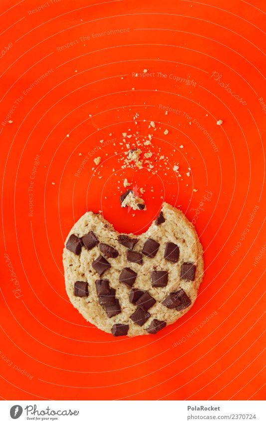 #A# Keksman Kunst ästhetisch Krümel Backwaren lecker ungesund Kalorie Kalorienreich Snack Snackbar angebissen abgebissen Appetit & Hunger Schokolade Süßwaren