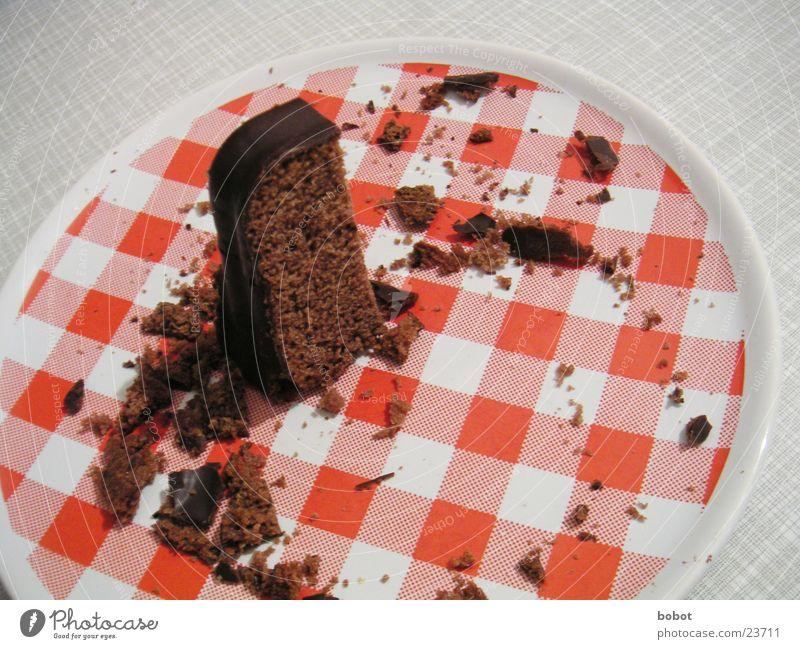 lecker Kuchen Feste & Feiern Kochen & Garen & Backen Kuchen Teller Schokolade Torte Backwaren Jubiläum Krümel