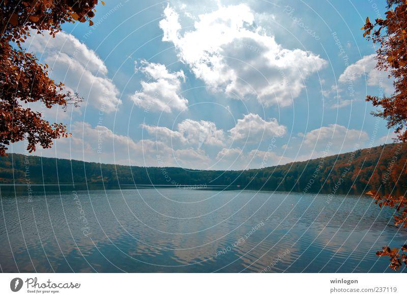 Himmel Natur Wasser Baum Pflanze Wolken Wald Erholung Umwelt Herbst Küste See Horizont warten Ausflug Tourismus