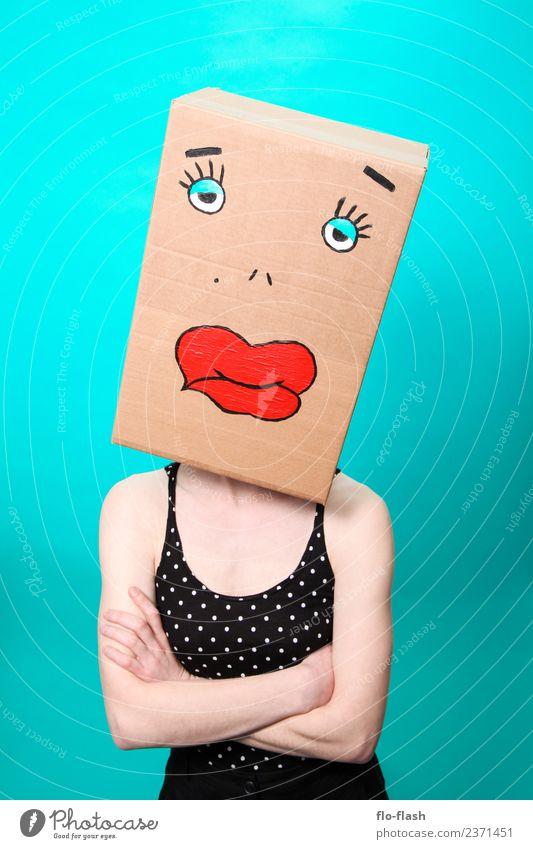 KARTOON · DUGGI Frau Mensch Jugendliche Junge Frau schön Erotik 18-30 Jahre Erwachsene Leben feminin Mode Studium Mutter Student Karneval türkis