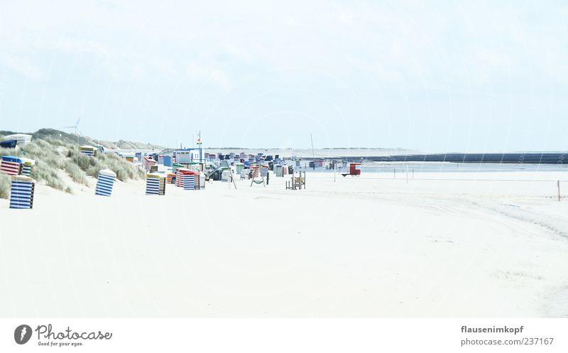 53° 35 N, 6° 40 O Ferien & Urlaub & Reisen Sommer Strand Meer Sand Himmel Schönes Wetter ruhig Erholung Borkum Strandkorb Farbfoto Außenaufnahme Menschenleer