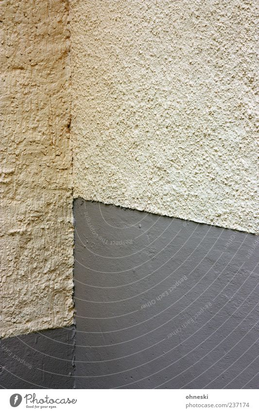Ecke Haus Einfamilienhaus Bauwerk Gebäude Mauer Wand Fassade Farben und Lacke Putz gelb grau Farbfoto abstrakt Strukturen & Formen Menschenleer