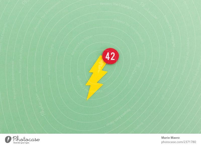 Blitz mit Symbol für Handy App Benachrichtigung grün Zeit Kommunizieren verrückt Neugier Pause Information neu Internet Stress Blitze PDA frech Sucht Gegenwart