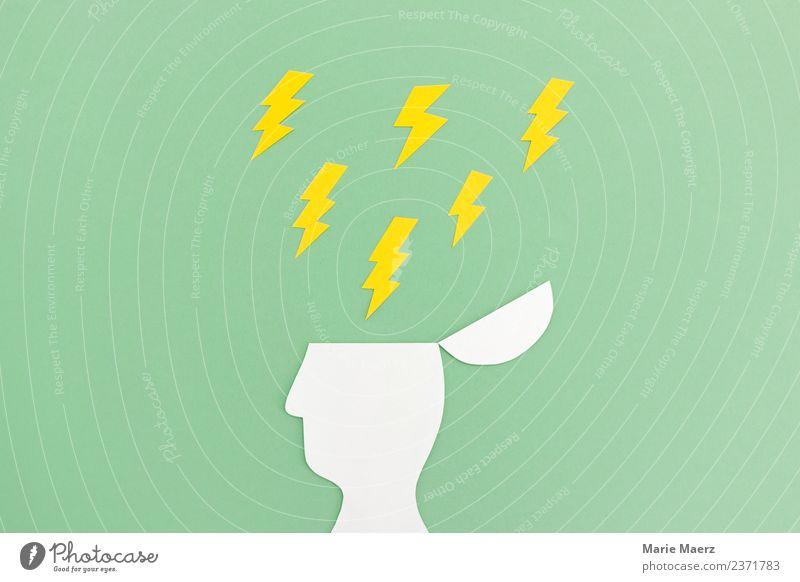 Gehirn unter Druck Bildung Wissenschaften Handy PDA Telekommunikation Denken Kommunizieren lernen Aggression stark gelb grün Kraft Stress Energie entdecken