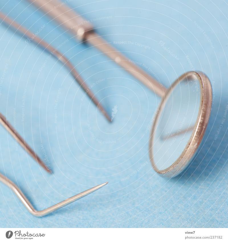 Zahnarzt Labor Arbeitsplatz Gesundheitswesen Metall Zeichen authentisch frisch gut kalt modern neu positiv blau Beginn Ordnung Dienstleistungsgewerbe