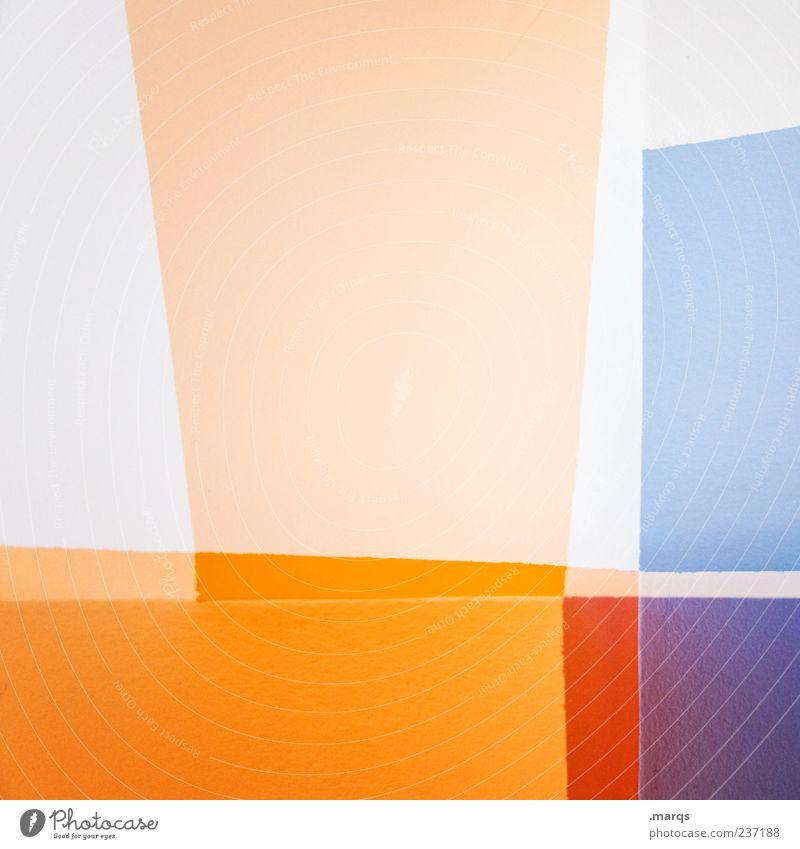 Delight Lifestyle Stil Design Kunst Linie Streifen leuchten außergewöhnlich hell trendy einzigartig verrückt mehrfarbig chaotisch Farbe Grafik u. Illustration