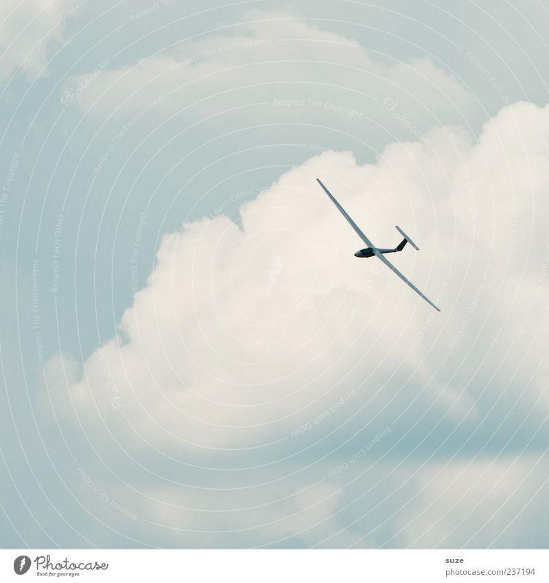 Huuuiiiiiii Freizeit & Hobby Freiheit Luftverkehr Umwelt Himmel Wolken Klima Schönes Wetter Wind Sportflugzeug Segelflugzeug fliegen Freundlichkeit hell blau