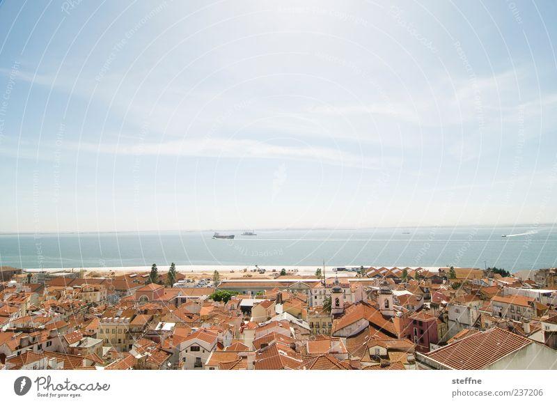 lili, so geht urlaubswetter Himmel Sonnenlicht Sommer Schönes Wetter Küste Lissabon Portugal Hafenstadt Altstadt bevölkert Haus Erholung Tourismus