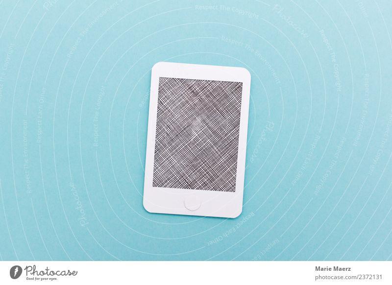 Handy mit chiffriertem Display PDA Telekommunikation Internet Kommunizieren nerdig blau Neugier gefährlich Sicherheit Bildschirm Information verstecken anonym