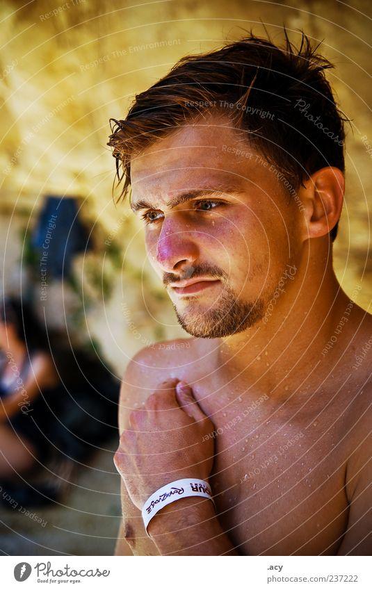 Stevie Mensch Mann Jugendliche Gesicht Erwachsene Haare & Frisuren Kopf Traurigkeit Denken träumen Schwimmen & Baden warten Haut nass maskulin frisch