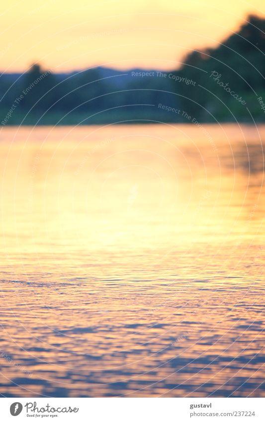 Die Elbe Natur Wasser Ferne Umwelt Landschaft Urelemente Romantik Fluss Schönes Wetter Freundlichkeit Flussufer Wasseroberfläche Nachthimmel Optimismus Sonnenuntergang