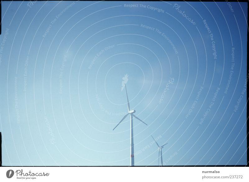 Wind Kraft Energie Himmel Umwelt Bewegung Energie Energiewirtschaft Industrie Technik & Technologie rein Windkraftanlage drehen Schönes Wetter ökologisch Umweltschutz Blauer Himmel nachhaltig alternativ