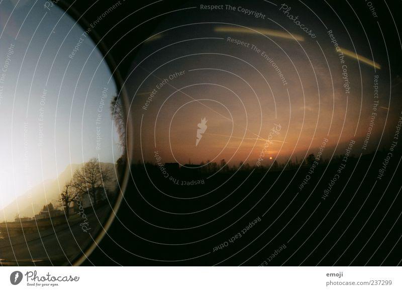 wenn die Nacht zum Tag wird Natur Landschaft Erde Himmel dunkel Doppelbelichtung Zeit Sonnenuntergang Sonnenaufgang analog Farbfoto Außenaufnahme Lomografie