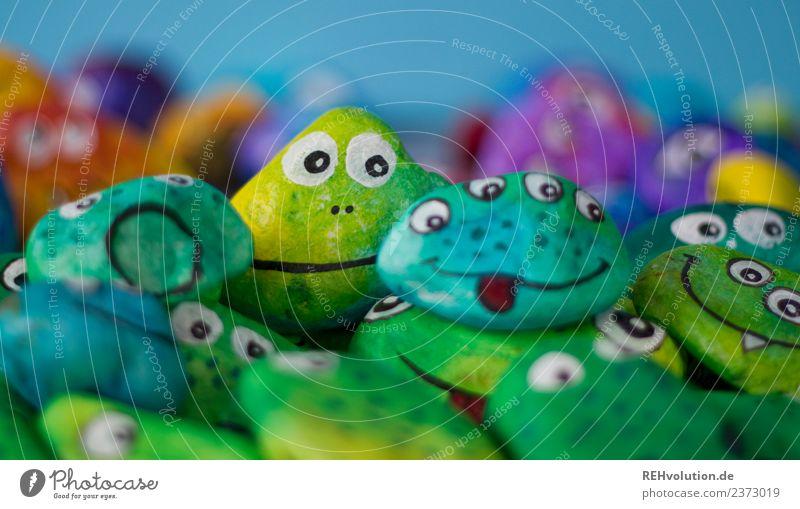 Monstersteine Freude Auge lustig Gefühle außergewöhnlich Freiheit Menschengruppe Stein Zusammensein Stimmung Lächeln Kreativität Lebensfreude einzigartig Idee