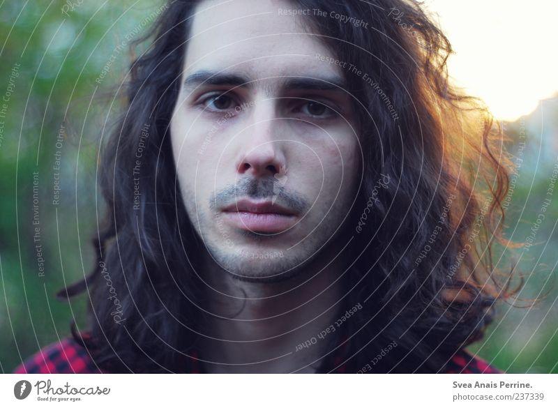 die andern. maskulin Junger Mann Jugendliche 1 Mensch 18-30 Jahre Erwachsene brünett langhaarig Locken einzigartig Farbfoto Außenaufnahme Sonnenlicht