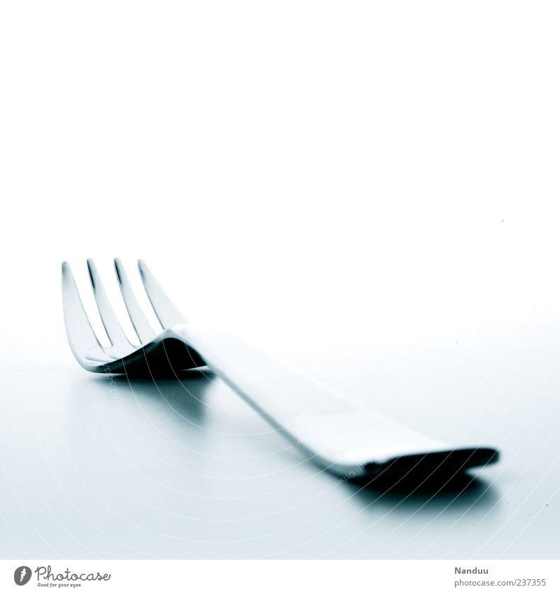 non-food-photo² weiß Metall glänzend liegen ästhetisch Sauberkeit Besteck Gabel Edelstahl Vor hellem Hintergrund