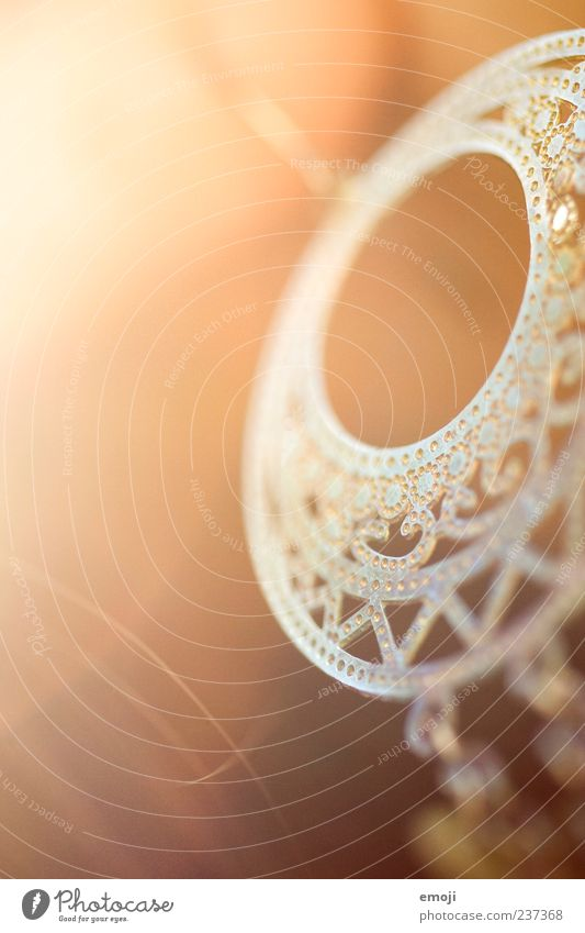 O Ohr Accessoire Schmuck Ohrringe trendy gold Farbfoto Nahaufnahme Makroaufnahme Textfreiraum links Licht Sonnenlicht Schwache Tiefenschärfe rund Anschnitt