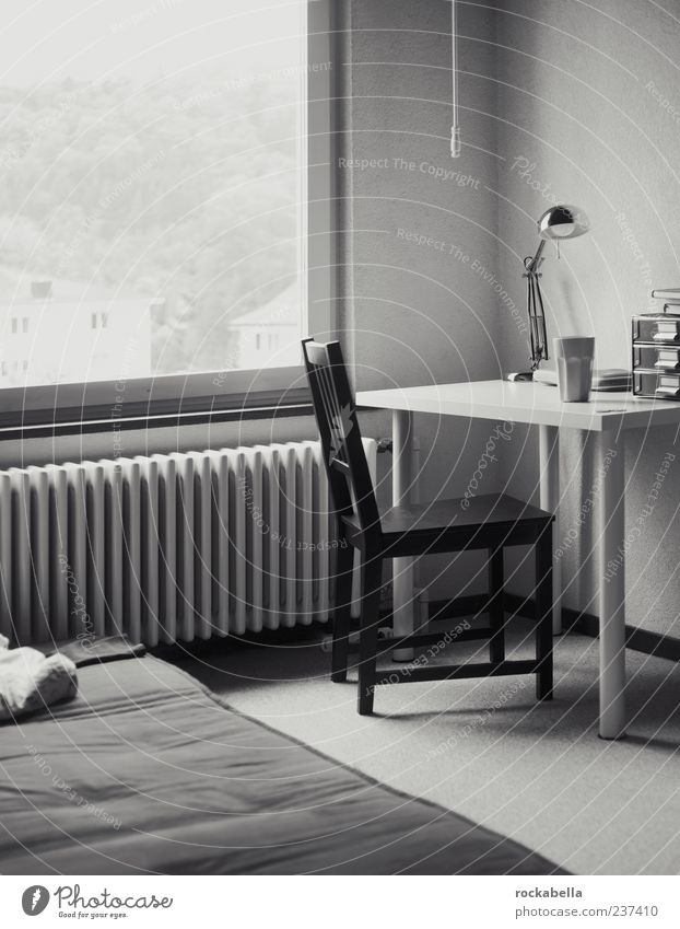 gestalterbude. Fenster Lampe Raum elegant Wohnung Design Innenarchitektur lernen ästhetisch Tisch Häusliches Leben Stuhl Dekoration & Verzierung Schreibtisch