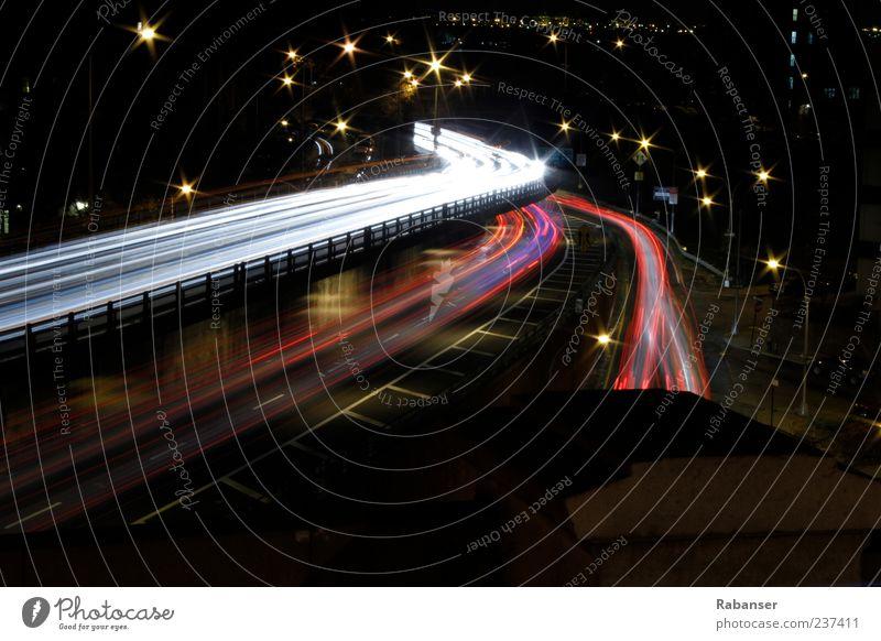 Brooklyn blau weiß schön Ferien & Urlaub & Reisen rot Straße außergewöhnlich Verkehr Brücke USA Asphalt Autobahn Verkehrswege Abenddämmerung Personenverkehr