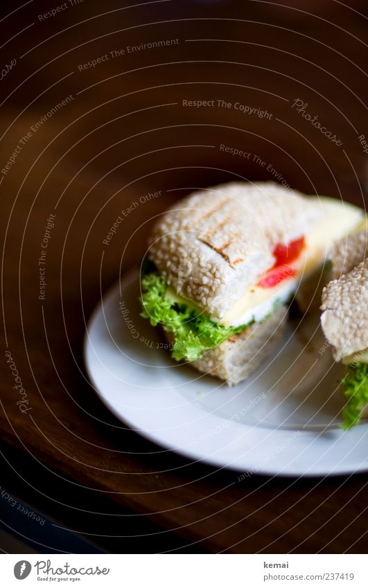 Mitternachtssnack Ernährung Lebensmittel Gemüse Appetit & Hunger lecker Brot Teller Amerika Brötchen Mittagessen Salat Käse Salatbeilage Vegetarische Ernährung
