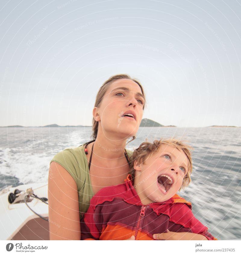 noch schnellaaaaaaaa, papa!! Mensch Kind Himmel Ferien & Urlaub & Reisen Meer Freude Erwachsene Landschaft feminin Junge Familie & Verwandtschaft Kindheit Insel