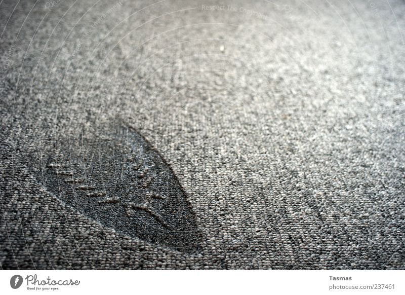 bleibender Eindruck grau kaputt fallen Teppich hässlich verbrannt Abdruck Detailaufnahme Technik & Technologie Bügeleisen