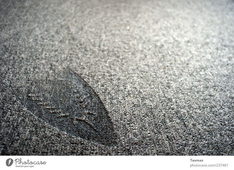 bleibender Eindruck Teppich Bügeleisen fallen hässlich verbrannt Abdruck Strukturen & Formen kaputt grau Farbfoto Nahaufnahme Detailaufnahme Makroaufnahme