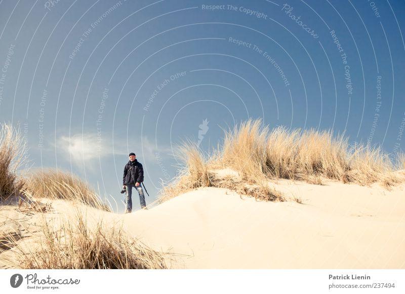 Spiekeroog | Du fehlst Mensch maskulin Mann Erwachsene Umwelt Natur Landschaft Sand Himmel Sonnenlicht Schönes Wetter Pflanze Küste Strand blau Freizeit & Hobby