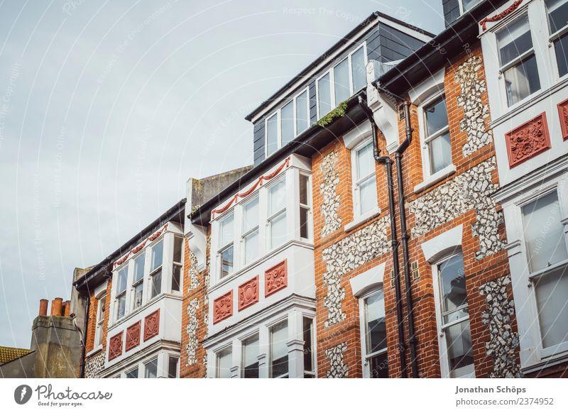 britische Architektur, Brighton, England Stadt weiß rot Haus Fenster Hintergrundbild Gebäude Fassade Häusliches Leben Zufriedenheit Bauwerk Hütte Backstein