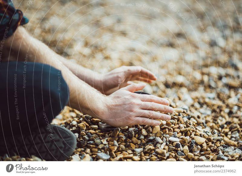 Sandburg bauen aus Stein Sommer Landschaft Hand Strand Herbst Umwelt Frühling Erde ästhetisch Kreativität Lebensfreude Schutz Sicherheit Urelemente