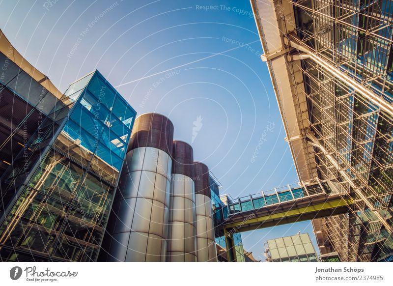 Glasfassade, Flughafen, London, England Weitwinkel superweitwinkel Industrie Industrieanlage Business District geschäfts Froschperspektive Gebäude Architektur