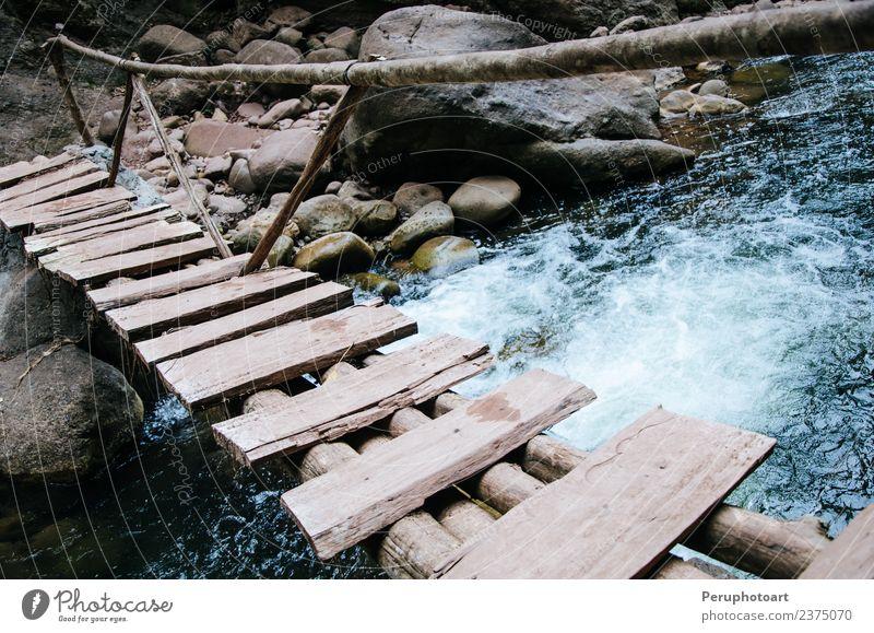 Natur Ferien & Urlaub & Reisen schön grün Landschaft weiß Baum Wald Berge u. Gebirge natürlich Felsen Park Fotografie Brücke Beautyfotografie Wasserfall