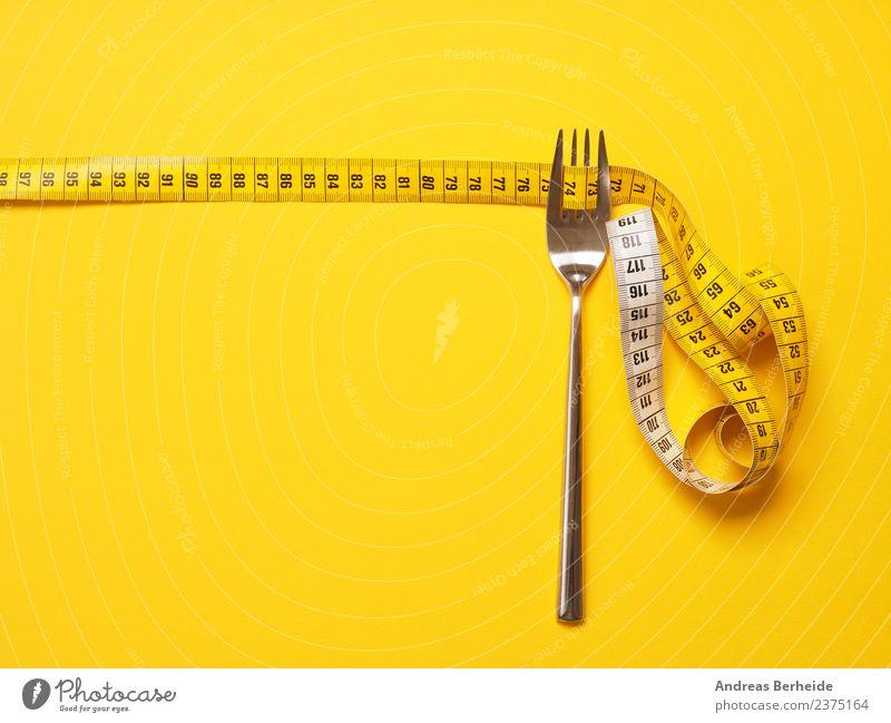 Wunschgewicht durch richtige Ernährung Diät Fasten Gabel Lifestyle Gesundheit Gesunde Ernährung Übergewicht Weihnachten & Advent Herz Fitness gelb