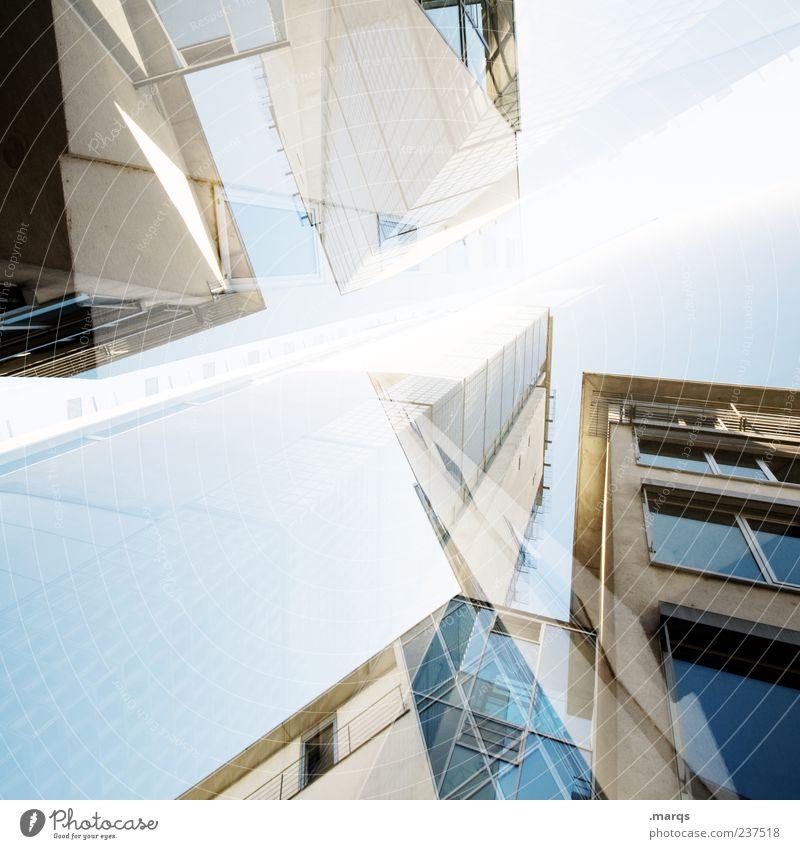 Konstrukt Design Business Hochhaus Bankgebäude Bauwerk Architektur Fassade Fenster außergewöhnlich einzigartig verrückt chaotisch Perspektive Reichtum Zukunft