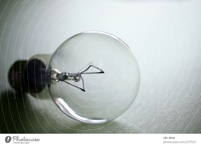 Licht aus Energiewirtschaft Glas Energie Elektrizität Vergänglichkeit rund Vergangenheit nachhaltig Stillleben Glühbirne Nostalgie Insolvenz Energiekrise Energie sparen ausschalten verschwenden