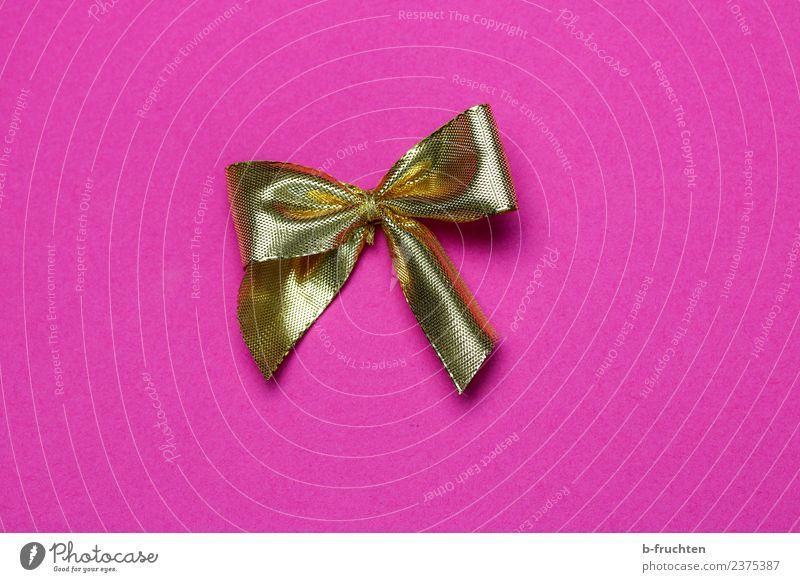 goldene Schleife Feste & Feiern Hochzeit Geburtstag Taufe glänzend Erotik feminin rosa Begierde Erwartung Freude Geschenkband schenken einpacken Verpackung