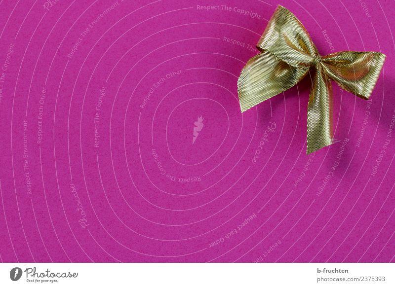Geschenk Feste & Feiern Muttertag Hochzeit Geburtstag Taufe Sauberkeit gold violett rosa Freude Verschwiegenheit Geschenkband Schleife schenken Verpackung